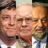 Gates, Buffett y Slim