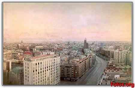 Madrid desde las torres blancas de Antonio López