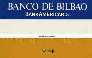 Primera tarjeta emitida Banco Bilbao BankAmericard