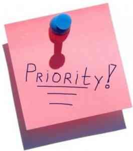 Establecer prioridades entre objetivos diferentes