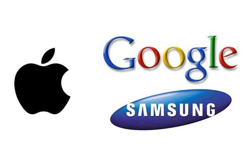 Apple, Samsung, Google y Facebook