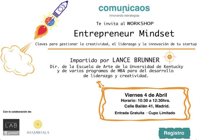 taller gratuito emprendedores creatividad
