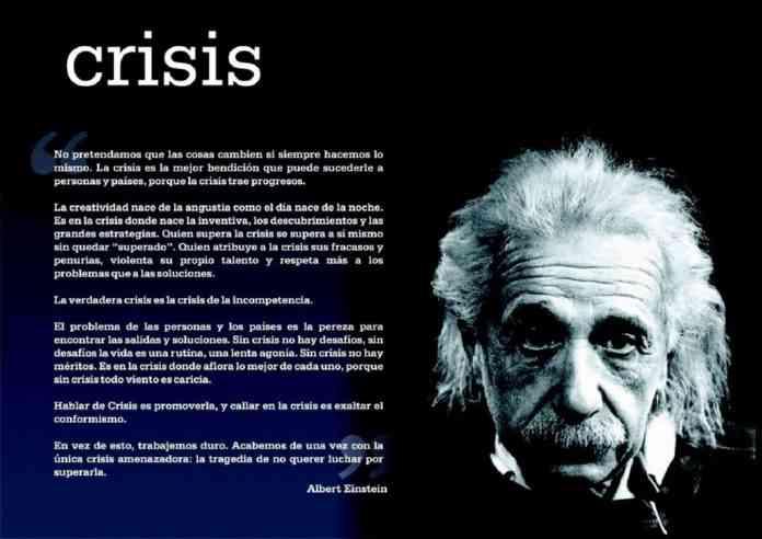 crisis por einstein