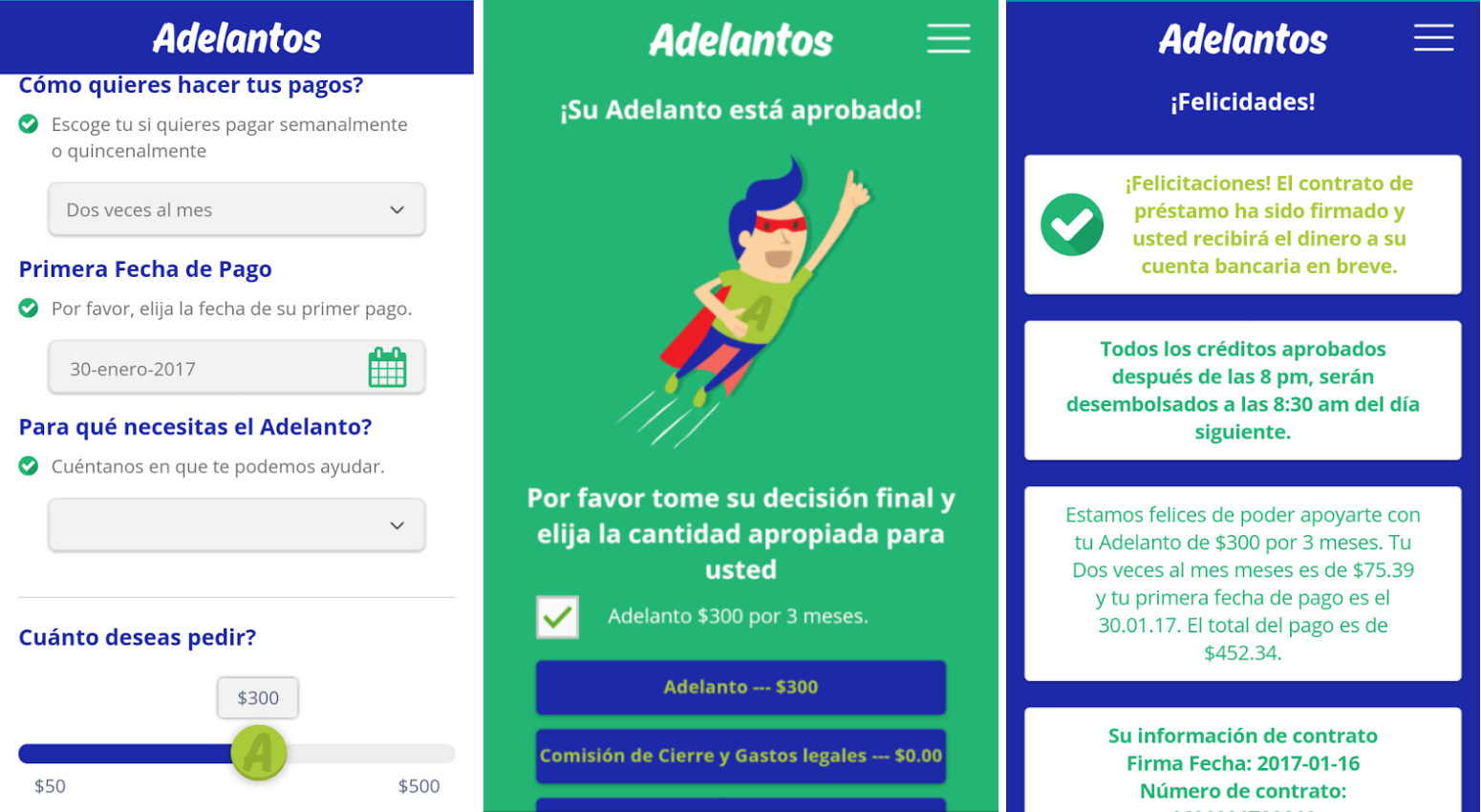 adelantos screenshots