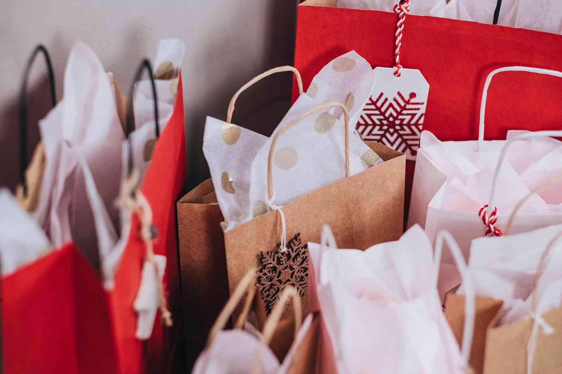 compras de navidad bolsas